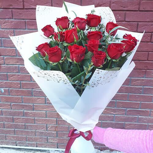 Букет-гигант из 15 роз
