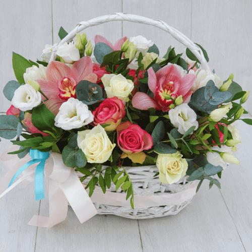Цветочный рай в корзинке